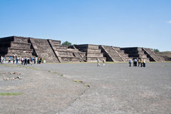 Piramidi Messico di Teotihuacan Immagine Stock