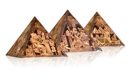 Piramidi metalliche Immagini Stock Libere da Diritti