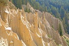 Piramidi naturali della terra Immagine Stock Libera da Diritti