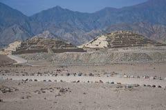 Piramidi perse di Caral Fotografie Stock Libere da Diritti