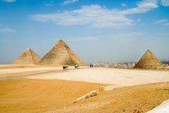 Piramids av giza arkivfoton