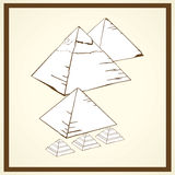 Piramids-Postkarte Stockfotos