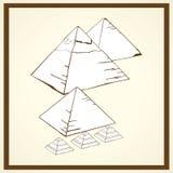 Piramidsprentbriefkaar Stock Foto's