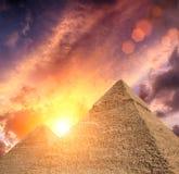 piramidy egiptu Zdjęcie Royalty Free