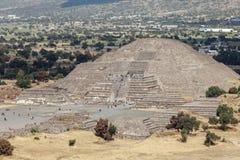 Piramyd księżyc teotihuacan Meksyk fotografia stock