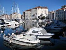 Piran的海滨广场,斯洛文尼亚 免版税库存图片