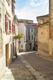 Piran alley Stock Photo