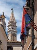 Piran, alte Stadt in Slowenien stockfotos