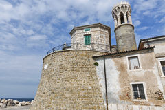 Piran ancient lighthouse building in Slovenia Stock Photo
