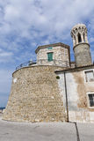 Piran ancient lighthouse building in Slovenia Royalty Free Stock Image