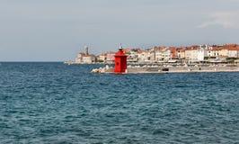 Piran cityscape. Mediterranean Sea, Slovenia. Royalty Free Stock Photography