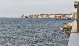 Piran cityscape. Mediterranean Sea, Slovenia. Stock Image