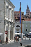Piran flag Stock Photo
