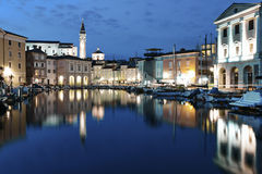Piran at night Royalty Free Stock Photography