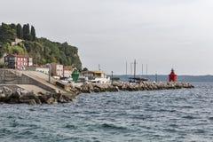 Piran port. Mediterranean Sea, Slovenia. Royalty Free Stock Photography