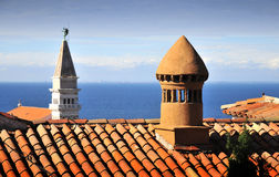 Piran's roofs Stock Photos