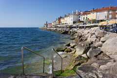 Piran's Seafront Stock Photography