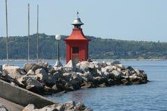 Piran shore_lighthouse Stock Photography