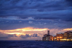 Piran,slovenia,europe. View of Piran , Slovenija,europe stock photography