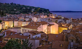 Piran,slovenia,europe. View of Tartini-square in Piran, Slovenija,europe royalty free stock photos