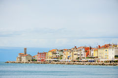 PIRAN, SLOVENIA - 19 JULY 2013: beautiful city and port view in Piran, Slovenia Royalty Free Stock Photography