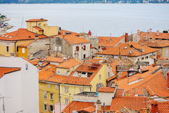 Piran, Slovenia - 19 July 2013: city and port view in summer Stock Photography