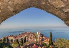 Piran,slovenia. Sea scape piran town slovenia Royalty Free Stock Photo