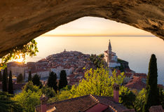 Piran,slovenia. View from city walls of Piran,Slovenia stock images
