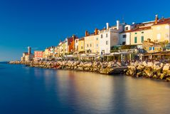 Piran, Slovenia: View of the old city center Stock Image