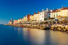 Piran, Slovenia: Widok stary centrum miasta Obraz Stock