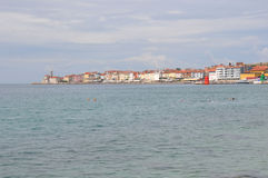 Piran on Slovenian coast Stock Images