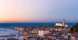 Piran Slovenien Fotografering för Bildbyråer