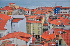 Piran tile roofs Royalty Free Stock Image