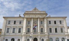 Piran Town Hall in Slovenia royalty free stock photos