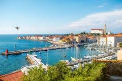 Piran town in Slovenia Stock Photo