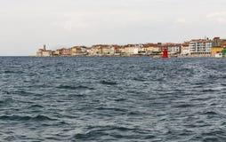 Piran townscape. Mediterranean Sea, Slovenia. stock photography
