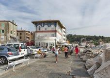 Piran waterfront in Slovenia Stock Photos