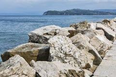 Piran waterfront in Slovenia Royalty Free Stock Photos