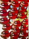 Piranha игрушки в окне Стоковое Изображение