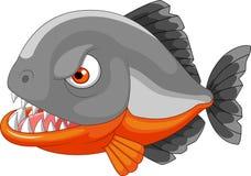 Piranha cartoon on white background Royalty Free Stock Photos