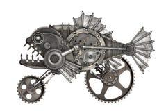 Piranha do estilo de Steampunk fotografia de stock