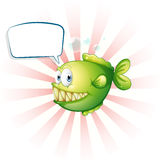A piranha with an empty callout Royalty Free Stock Images