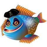 Piranha engraçada dos desenhos animados Fotografia de Stock