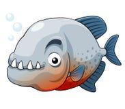 Piranha fish. Illustration of piranha fish Royalty Free Stock Photography