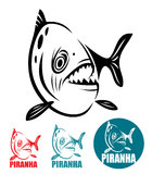 Piranha fish. Vector illustration of piranha fish Stock Photos