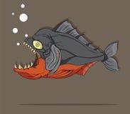 Piranha Fish Vector. Illustration Piranha Fish Vector on Gray background Stock Image