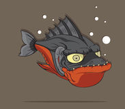 Piranha Fish Vector Stock Image
