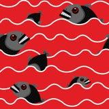 Piranha im Ozean Blutiges Wasser mit Wasserraubtier Rot bewegt O wellenartig lizenzfreie abbildung