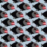 Piranha seamless pattern. Many bloodthirsty marine predators. Ma Stock Images