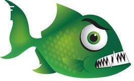 Piranha vert mesquin Images libres de droits